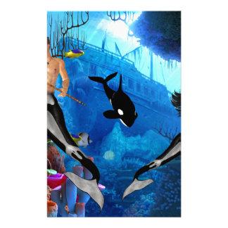 Best Seller Merrow Mermaid Stationery Paper