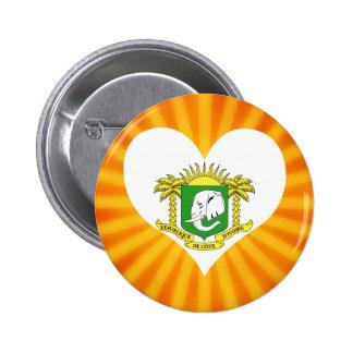 Best Selling Cute Ivory Coast 6 Cm Round Badge