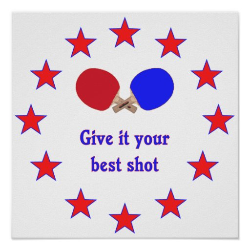 Best Shot Ping Pong Poster