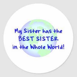Best Sister Classic Round Sticker