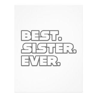 Best Sister Ever 21.5 Cm X 28 Cm Flyer