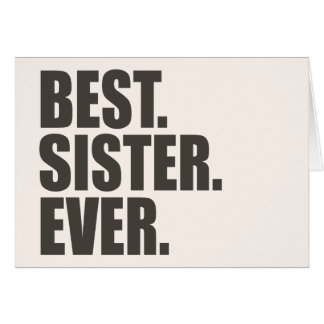 Best Sister Ever Cards