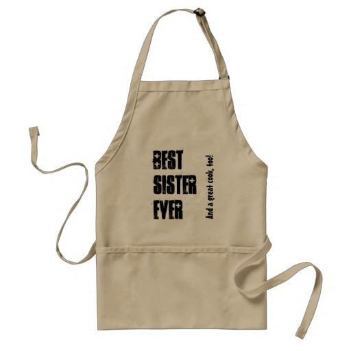 Best Sister Ever Custom Name and Sentiment W1547 Aprons