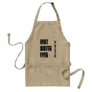 Best Sister Ever Custom Name and Sentiment W1547 Standard Apron