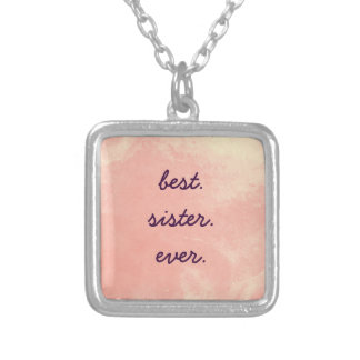 Best Sister Ever Square Pendant Necklace