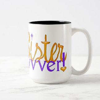 Best Sister Evvvvvvver! Two-Tone Mug