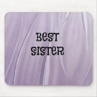 Best Sister Pale Soft Lilac Mouse Mat