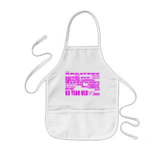 Best Sixty Five Year Olds Girls : Pink Greatest 65 Kids' Apron