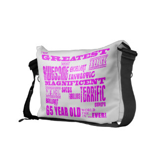 Best Sixty Five Year Olds Girls : Pink Greatest 65 Messenger Bag