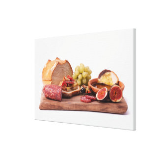 best snacks for wine canvas print