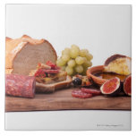 best snacks for wine large square tile