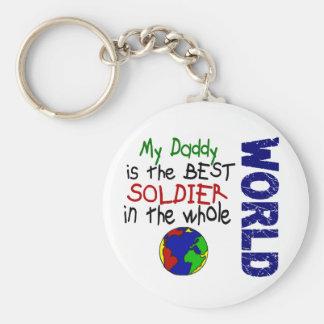 Best Soldier In World 2 (Daddy) Basic Round Button Key Ring