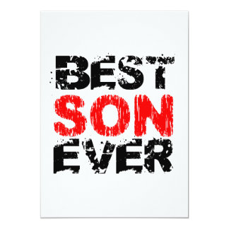 Best SON Ever Grunge Style Red and Black Z810 Card