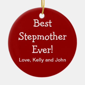 Best Step Mother Christmas Ornament