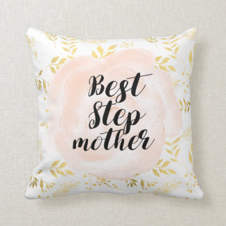 Best Stepmother elegant romantic pillow