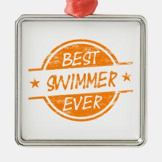 Best Swimmer Ever Orange Christmas Ornament