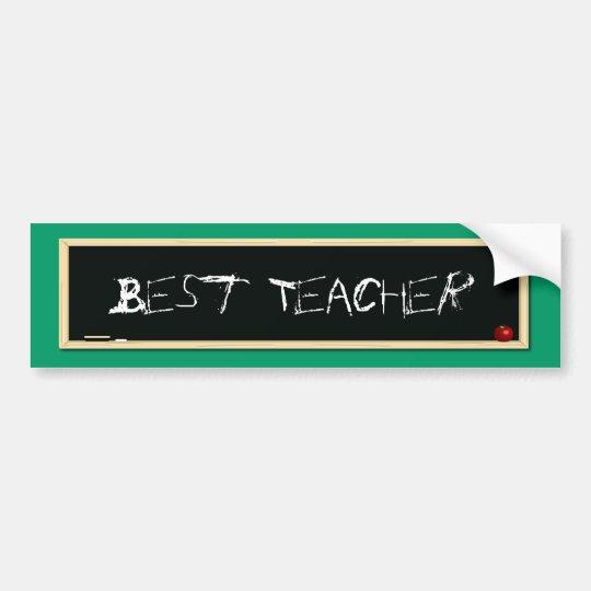Best Teacher Blackboard Bumper Sticker