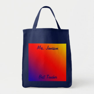 Best Teacher Canvas Bag, Appreciation, Thank You Grocery Tote Bag