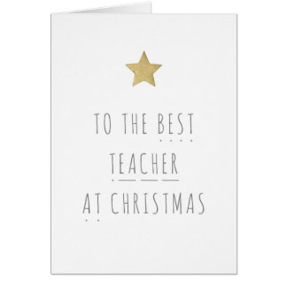 Best Teacher Christmas Card - Phonics
