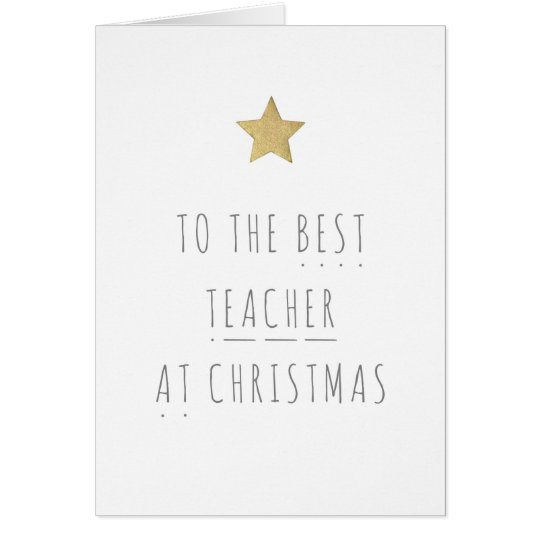 Best Teacher Christmas Card - Phonics