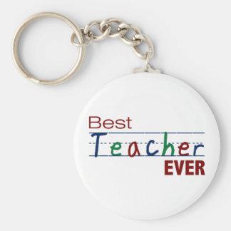 Best Teacher Ever Basic Round Button Key Ring