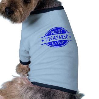 Best Teacher Ever Blue Dog Shirt