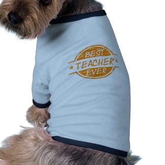 Best Teacher Ever Orange Dog Tshirt