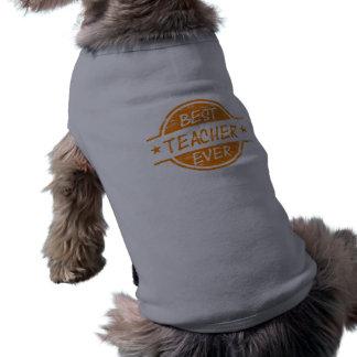 Best Teacher Ever Orange Pet T Shirt