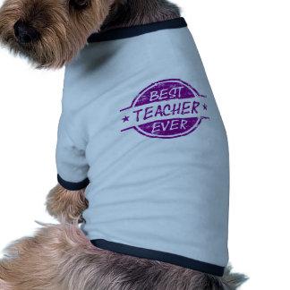 Best Teacher Ever Purple Pet T-shirt