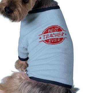 Best Teacher Ever Red Dog Tshirt