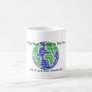 Best Teacher In The World Personalised WordArt Mug