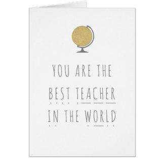 Best Teacher In The World Phonics Greeting Card