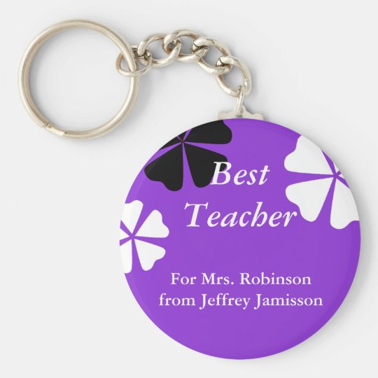 Best Teacher Keychain (Key Chain), Purple