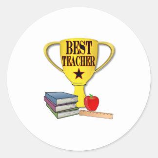 Best Teacher Round Sticker