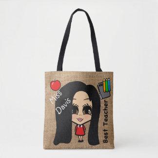 Best Teacher Tote - Personalized Caricature Bag
