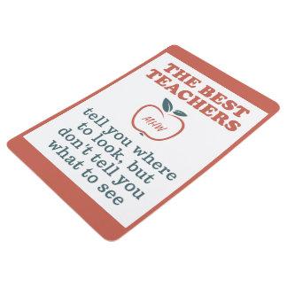 BEST TEACHERS custom monogram floor mat