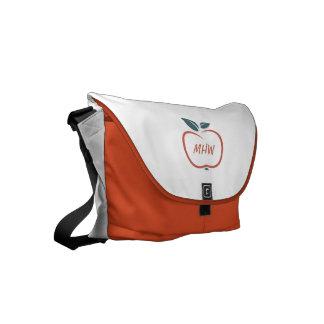 BEST TEACHERS custom monogram messenger bags