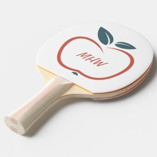 BEST TEACHERS custom monogram ping pong paddle