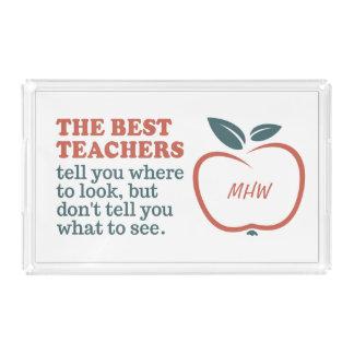 BEST TEACHERS custom monogram serving trays