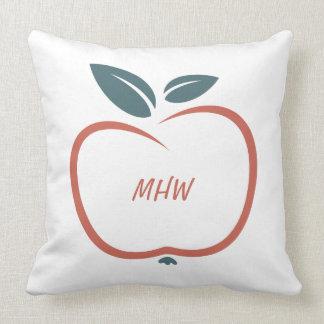 BEST TEACHERS custom monogram throw pillows