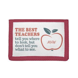 BEST TEACHERS custom monogram wallets