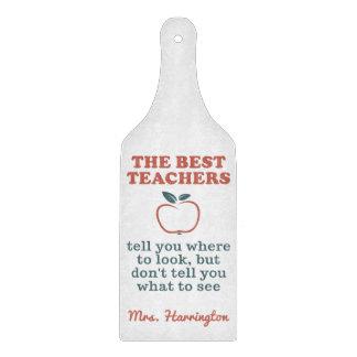 BEST TEACHERS custom name cutting board