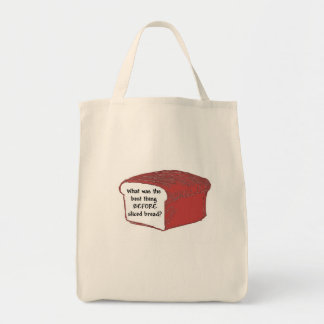 Best thing since sliced bread? grocery tote bag