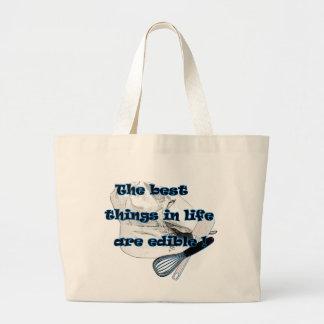 Best things in Life are Edible Jumbo Tote Bag