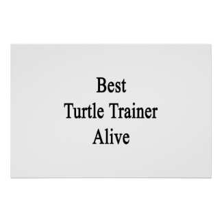Best Turtle Trainer Alive Posters
