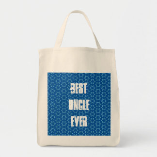 Best UNCLE Ever Blue Star Pattern Gift Idea Grocery Tote Bag