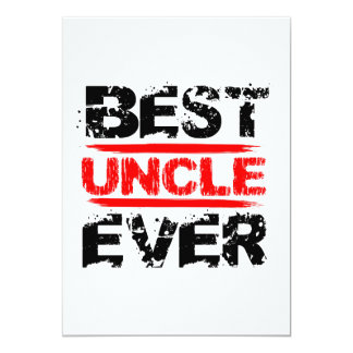 Best UNCLE Ever Grunge Style Red and Black Z811 Card