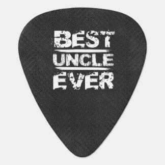 Best UNCLE Ever Grunge Style White and Black N811 Plectrum