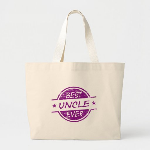 Best Uncle Ever Purple Tote Bag