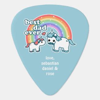 Best Unicorn Dad Guitar Pick